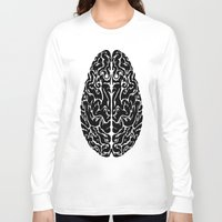 brain Long Sleeve T-shirts featuring Brain by FractalFox