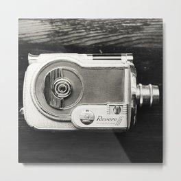 Vintage Revere Camera in Black & White Metal Print