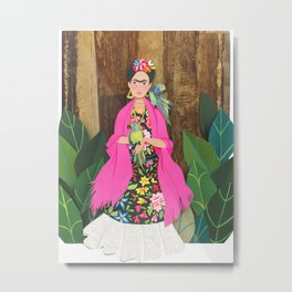 Frida Khalo - Color Metal Print