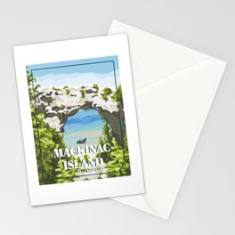 Mackinac Island Poster Stationery Cards