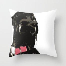 Black Great Dane Dog Throw Pillow