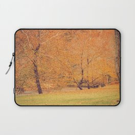 Autumn Landscape -- Trees By The River Laptop Sleeve