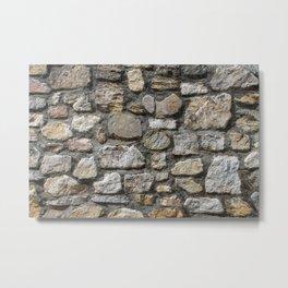Stone wall texture. Metal Print