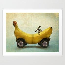 Banana Buggy Art Print