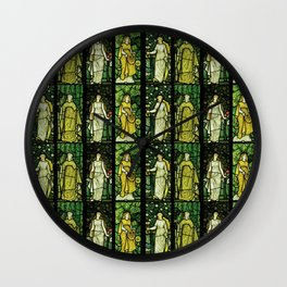 "William Morris ""Four seasons"" (Dining Room at Cragside House, Northumberland, UK) Wall Clock"