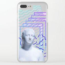 Vaporwave Greek Clear iPhone Case