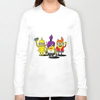 minions Long Sleeve T-shirts featuring Despicable Minions and Futurama Mashup by TapedApe