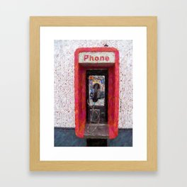 Pay Phone Smart Phone cases Framed Art Print