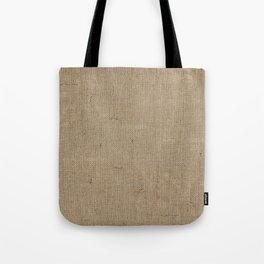 Plain Burlap Texture Print Tote Bag