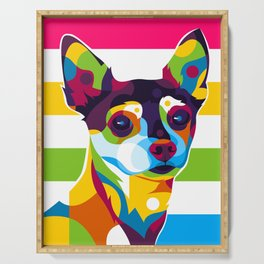 Colorful Chihuahua Serving Tray