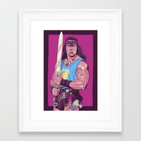 conan Framed Art Prints featuring Conan the Barbarian by Mike Wrobel