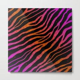 Ripped SpaceTime Stripes - Pink/Orange Metal Print