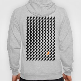 Orange: Black And White Pattern Hoody