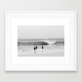 children in the sea Framed Art Print