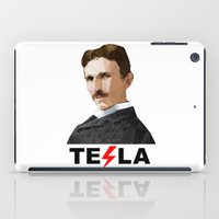tesla iPad Cases featuring Tesla by Vi Sion