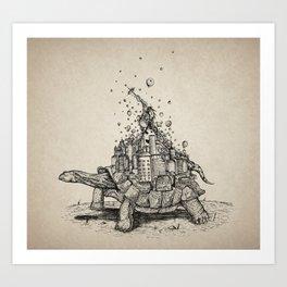 Tortoise Town Art Print