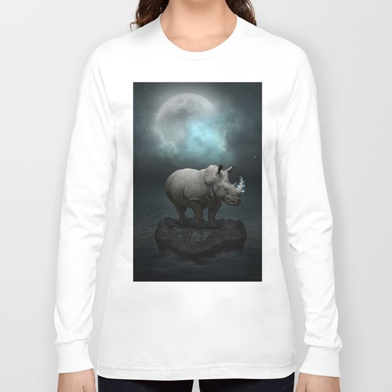 Power Is No Blessing In Itself v.1 (Protect the Rhino)  Long Sleeve T-shirt