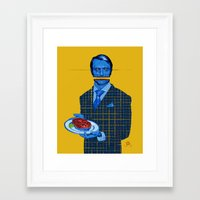 hannibal Framed Art Prints featuring Hannibal by Leif Jones