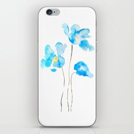 abstract Himalayan poppy flower watercolor iPhone Skin
