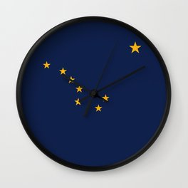State flag of Alaska - Authentic version Wall Clock