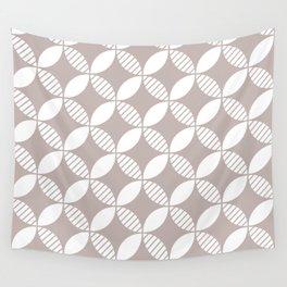 Mid Century Modern Geometric Flower Pattern Warm Gray 2 Wall Tapestry