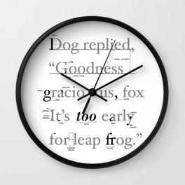 Goodness Wall Clock