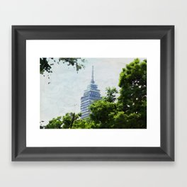 between green Framed Art Print