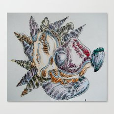 Post Nuclear embroidery Canvas Print