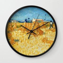 "Vincent Van Gogh ""Corn Harvest in Provence"" Wall Clock"
