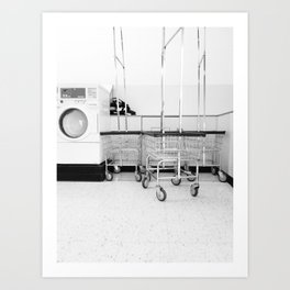 At the Laundromat Art Print