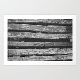 Old Wood Art Print