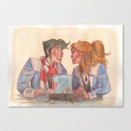 Learning together Canvas Print