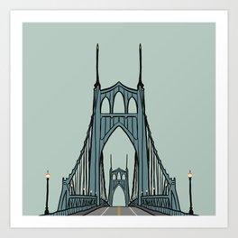 St. Johns Bridge Portland Oregon Art Print