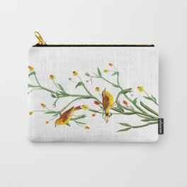 Yellow Red-poll Warbler Bird Carry-All Pouch