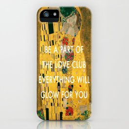 Love Club Kiss iPhone Case