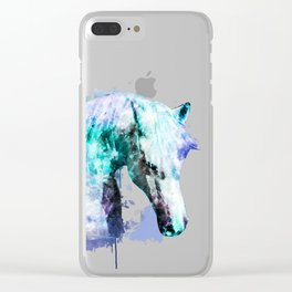Horse Watercolor, Horse Print, Watercolor Print, Watercolor Animal, Horse Painting, Horse Gift Print Clear iPhone Case