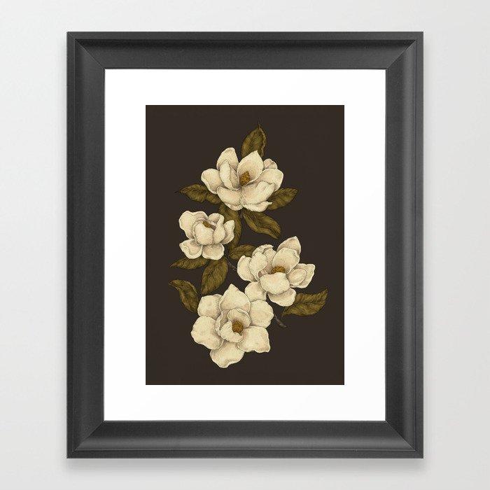 Magnolias Gerahmter Kunstdruck