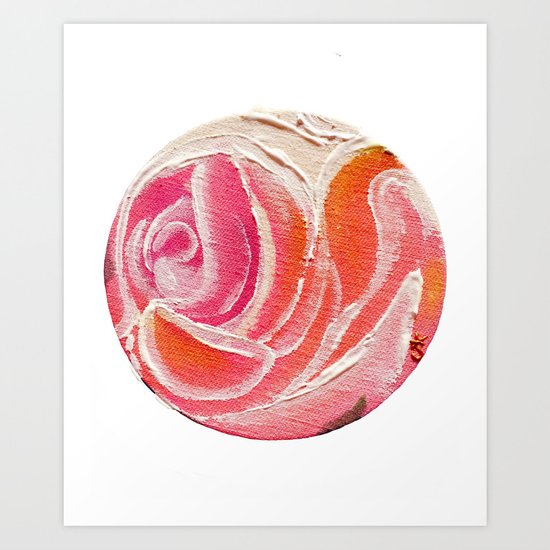 Sunday Plum Roses Art Print