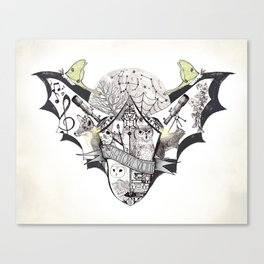 The Night Owl Society - Illustrated by Taren S. Black Canvas Print