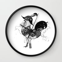 pirate Wall Clocks featuring Pirate by Sarinya  Withaya