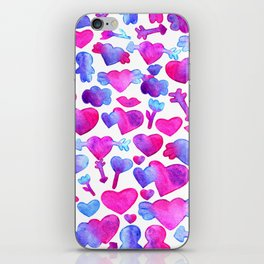 Watercolor romantic design iPhone Skin
