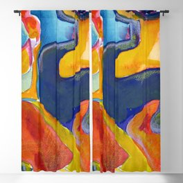 Abstract Face Blackout Curtain