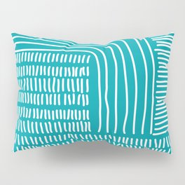 Digital Stitches thick turquoise Pillow Sham