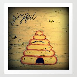 bee joyful Art Print
