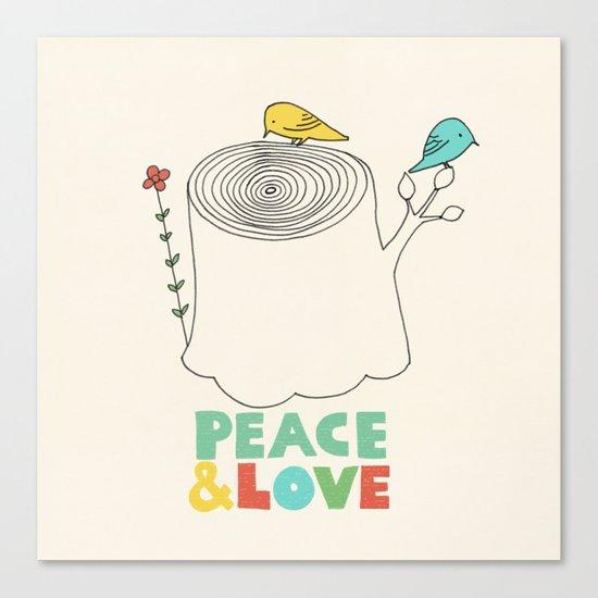 Peace & Love Canvas Print