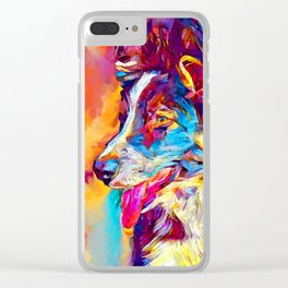 Border Collie 3 Clear iPhone Case
