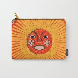 The sun Huichol art Carry-All Pouch