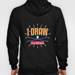 I Draw Because Punching People Is Frowned Upon | Artists product Hoody