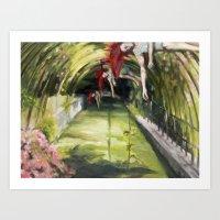 agnes cecile Art Prints featuring Agnes descending by Dawn Dudek