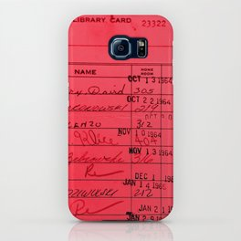 Library Card 23322 Red iPhone Case
